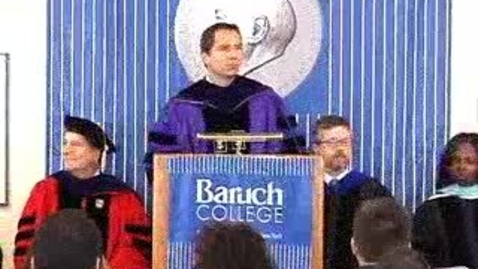 Thumbnail for entry Baruch College Commencement (2006): Student Achievement Awards