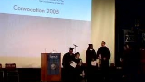 Thumbnail for entry Baruch College Convocation (2005): Bill Lutz
