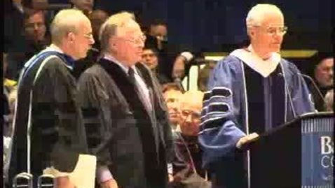 Thumbnail for entry Baruch College Commencement (2004): Honorary Degree Recipient Laurance Field