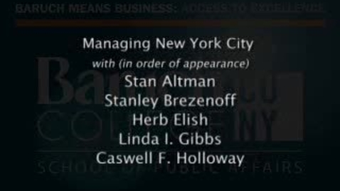 Thumbnail for entry Part 9: Managing New York City