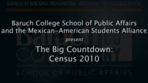 Thumbnail for entry The Big Countdown: Census 2010