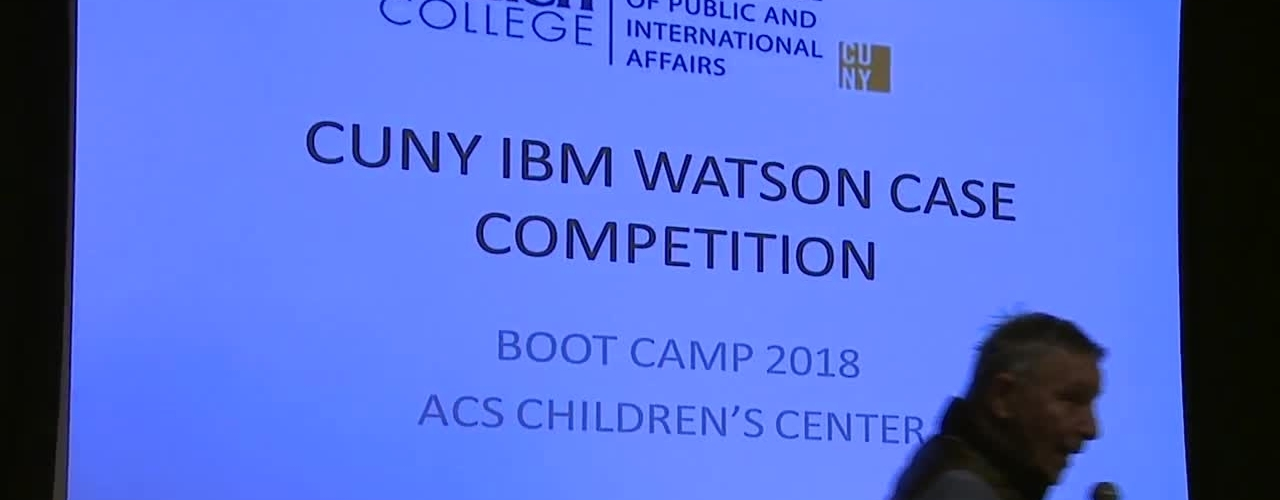 CUNY-IBM Watson Case Competition 2018 Boot Camp 2