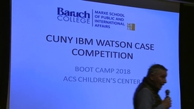 Thumbnail for entry CUNY-IBM Watson Case Competition 2018 Boot Camp 2