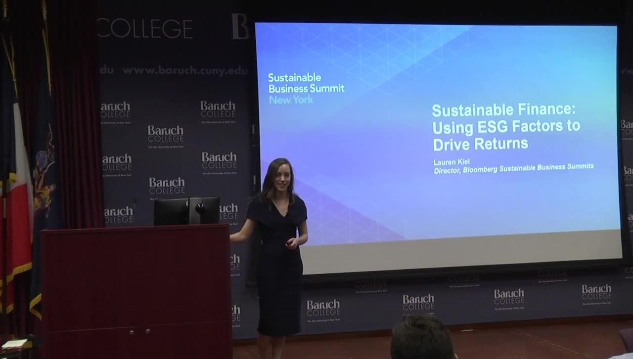 Sustainable Finance : Using ESG Factors to Drive Returns