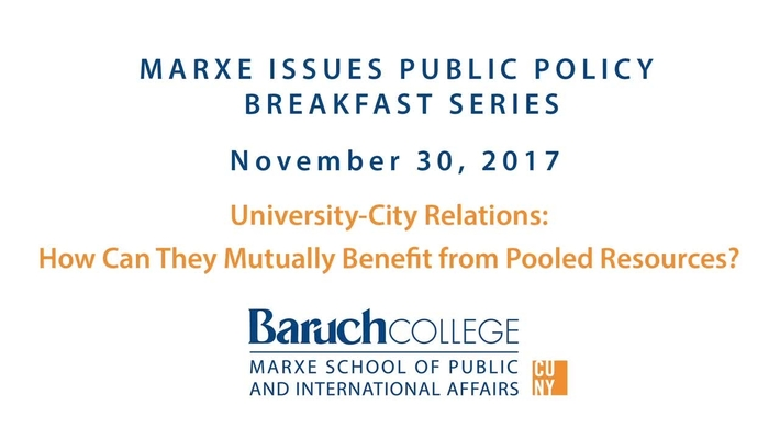University-City relations: How can they mutually benefit from pooled resources?