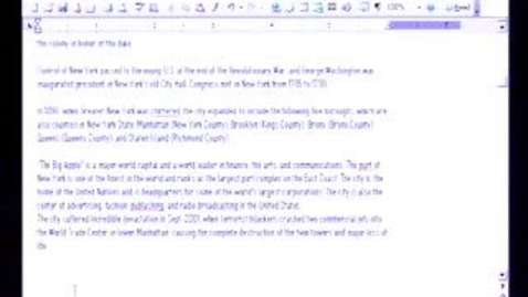 Thumbnail for entry Introduction to Microsoft Word 2003: More Formatting