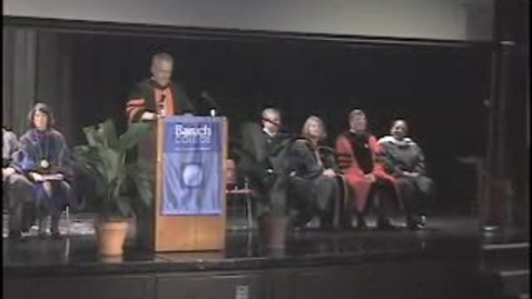 Thumbnail for entry Baruch College Convocation (2007)