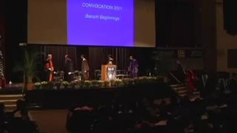 Thumbnail for entry Baruch College Convocation (2011)