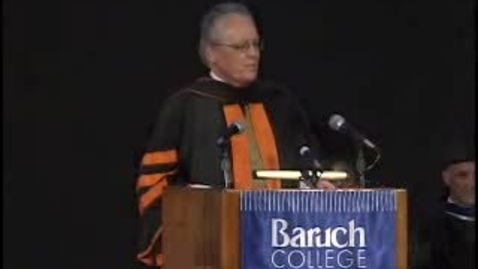 Thumbnail for entry Baruch College Convocation (2008): Part II