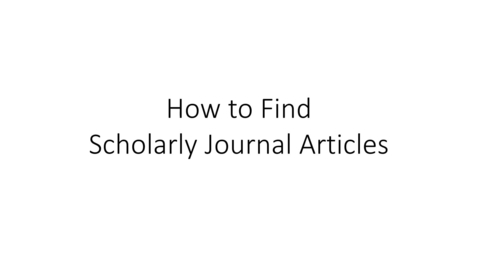 Thumbnail for entry How to Find Scholarly Journal Articles