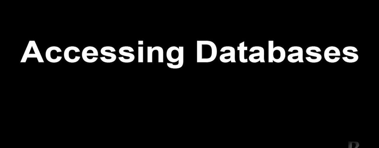 9.Accessing Databases