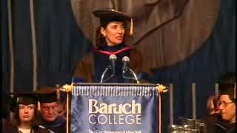 Thumbnail for entry Baruch College Commencement (2008): Keynote Speaker Alan M. Dershowitz