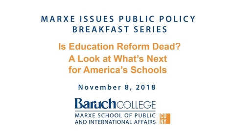 Thumbnail for entry Is Education Reform Dead? A Look at What's Next for America's Schools