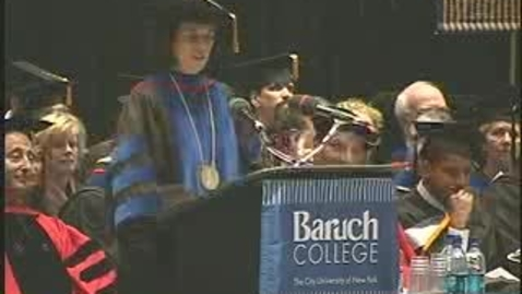 Thumbnail for entry Baruch College Commencement (2006): Salutatorian Shazana Zumpfe
