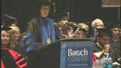 Thumbnail for entry Baruch College Commencement (2006): Salutatorian Shazana Zumpfe