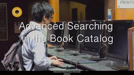 Thumbnail for entry 8.Advanced Searching in the Book Catalog
