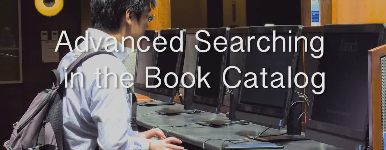 8.Advanced Searching in the Book Catalog