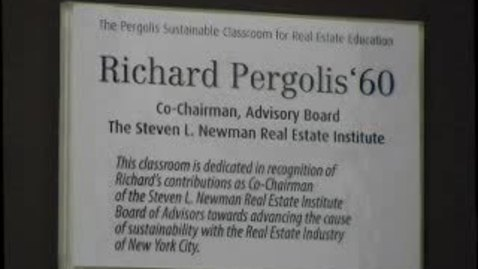 Thumbnail for entry Dedication of the Pergolis Urban Classroom