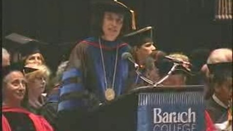 Thumbnail for entry Baruch College Commencement (2006): Valedictorian Els Rutten