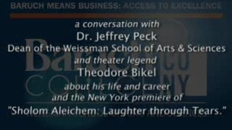 Thumbnail for entry Weissman Talks: Peck Interviews Bikel