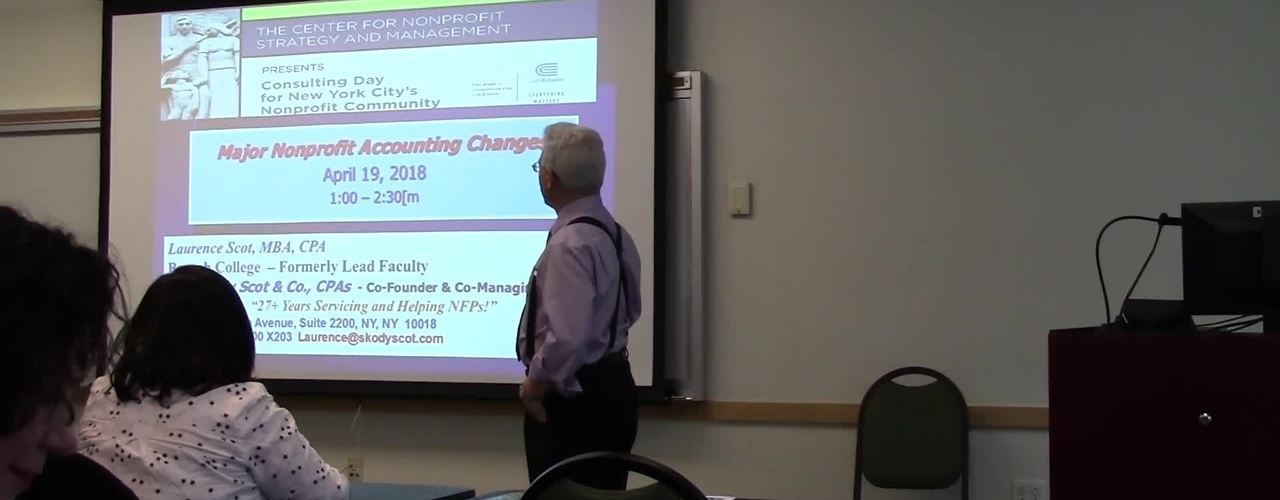 Major Nonprofit Accounting Changes