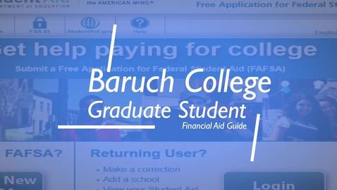 Thumbnail for entry Graduate Financial Aid