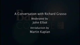 Thumbnail for entry A Conversation with Richard Grasso
