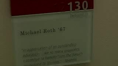 Thumbnail for entry Dedication of the Michael Roth & Max Berger Classrooms