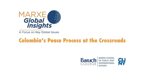 Thumbnail for entry Colombia's Peace Process at the Crossroads