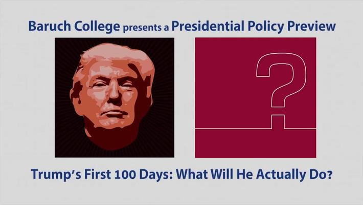 Campaign '16 @Baruch : What Will He Actually Do?