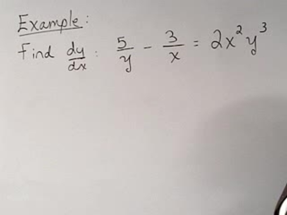 Chapter 38 Implicit Differentiation 10 Imp Diff Example 8