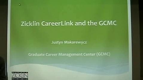 Thumbnail for entry Job-Search Tips for Entrepreneurship Graduate Students