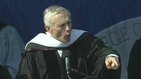 Thumbnail for entry Baruch College 48th commencement exercises (2013). Commencement address.