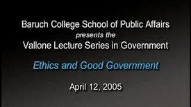 Peter Vallone on Ethics and Good Government