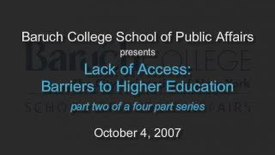 Thumbnail for entry Lack of Access: Barriers to Higher Education (Part 2)