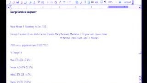 Thumbnail for entry Introduction to Microsoft Word 2003: Tables