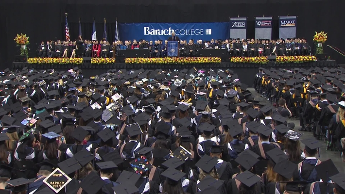 Baruch College 52nd commencement exercises (2017). Part 2 of 3