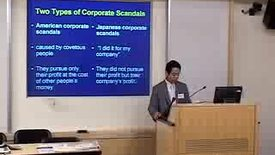 Thumbnail for entry International Center For Corporate Accountability Seminar on Ethics in Japanese Corporations
