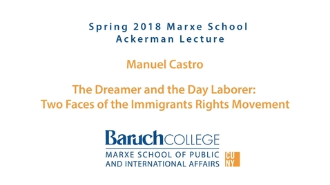 Thumbnail for entry The Dreamer and the Day Laborer : Two Faces of the Immigrants Rights Movements