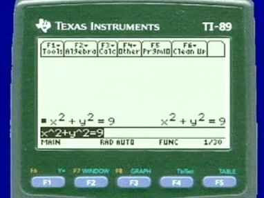 Chapter 3 8: Implicit Differentiation - 11) TI-89 and