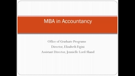 Webinar for MBA curriculum in accountancy
