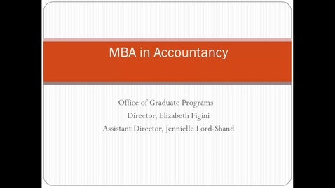 Thumbnail for entry Webinar for MBA curriculum in accountancy