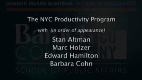 Thumbnail for entry Part 3: NYC Productivity Program