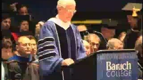 Thumbnail for entry Baruch College Commencement (2004): Abraham J. Briloff Prize