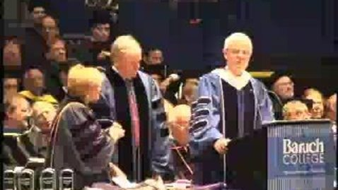 Thumbnail for entry Baruch College Commencement (2004): Honorary Degree Recipient Bill Donaldson