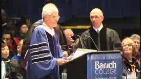 Thumbnail for entry Baruch College Commencement (2004): Honorary Degree Recipient David Coulter