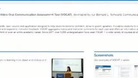 Thumbnail for entry Developing, Deploying, and Sharing the Video Oral Communication Assessment Tool (VOCAT)