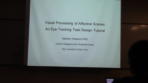 Thumbnail for entry Visual Processing of Affective Scenes: An Eye Tracking Task Tutorial