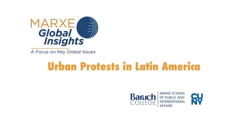 Thumbnail for entry Urban Protests in Latin America