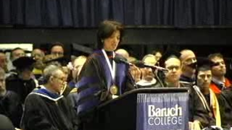 Thumbnail for entry Baruch College Commencement (2005): Class Gifts